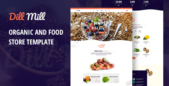[Free Download] Dillmill – Organic and Food Store PSD Template (Nulled) [Latest Version]