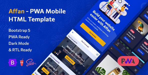[Free Download] Affan – PWA Mobile HTML Template (Nulled) [Latest Version]