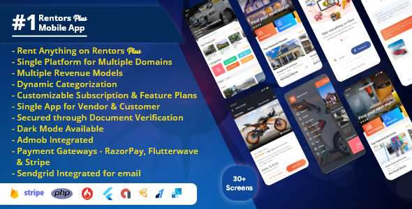 [Free Download] Rentors Plus- Universal Flutter App For Renting and Hiring (Nulled) [Latest Version]