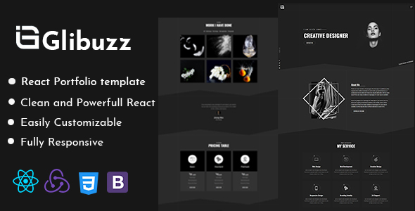 [Free Download] Glibuzz – Personal Portfolio React Template (Nulled) [Latest Version]