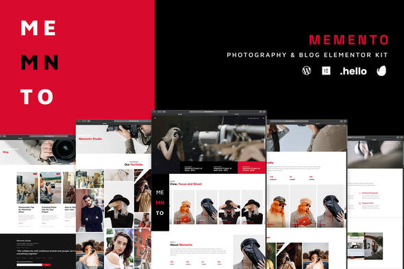 [Free Download] Memento – Photography & Blog Elementor Template Kit (Nulled) [Latest Version]
