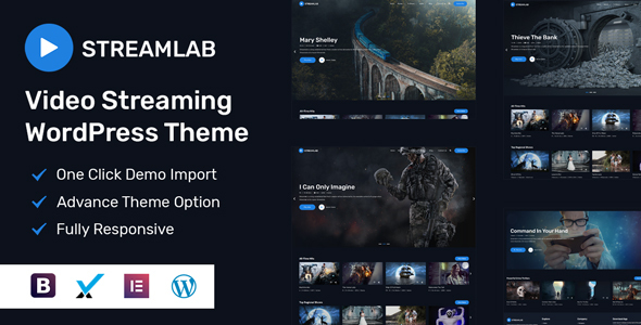 [Free Download] Streamlab – Video Streaming WordPress Theme (Nulled) [Latest Version]