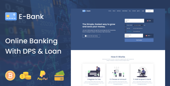 [Free Download] E-Bank – Complete Online Banking System With DPS & Loan (Nulled) [Latest Version]