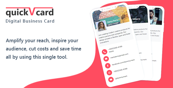 [Free Download] QuickVCard – Digital Business Card SaaS PHP Script (Nulled) [Latest Version]