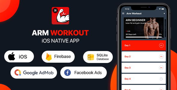 [Free Download] Arm Workout – iOS App (Nulled) [Latest Version]