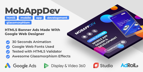 [Free Download] Mobile App Development – Animated HTML5 Banner Ad Templates (GWD) (Nulled) [Latest Version]