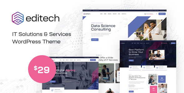 [Free Download] Editech – Corporate, Finance,  IT Solution & Business WordPress Theme (Nulled) [Latest Version]