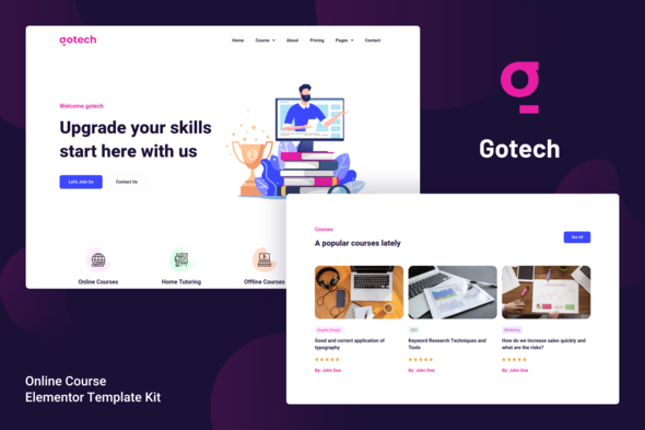 [Free Download] Gotech – Online Course Elementor Template Kit (Nulled) [Latest Version]