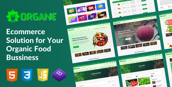 [Free Download] Organe – Organic Food HTML Template (Nulled) [Latest Version]