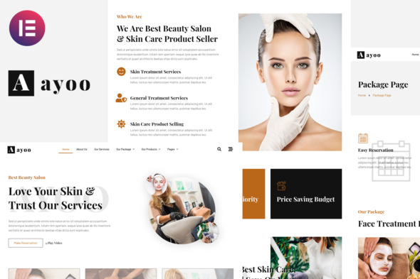 [Free Download] Ayoo – Beauty Salon Services Elementor Template Kits (Nulled) [Latest Version]