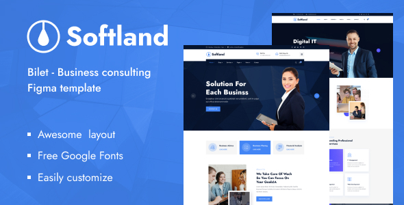 [Free Download] Softland – Business Consulting Figma Template (Nulled) [Latest Version]