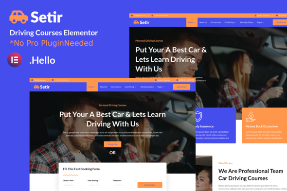 [Free Download] Setir – Driving Courses Elementor Template Kit (Nulled) [Latest Version]