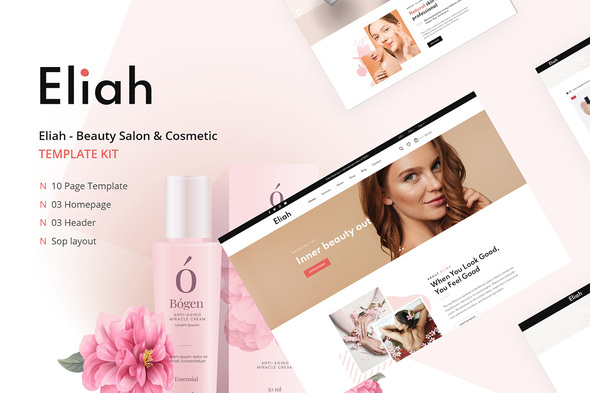 [Free Download] Eliah – Beauty Salon & Cosmetic Elementor Template Kit (Nulled) [Latest Version]