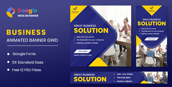 [Free Download] Business Solution Animated Banner GWD (Nulled) [Latest Version]