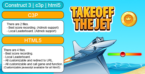 [Free Download] Takeoff The Jet Game (Construct 3 | C3P | HTML5) Customizable and All Platforms Supported (Nulled) [Latest Version]