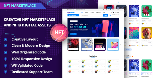[Free Download] Tokimart – NFT Marketplace Template (Nulled) [Latest Version]