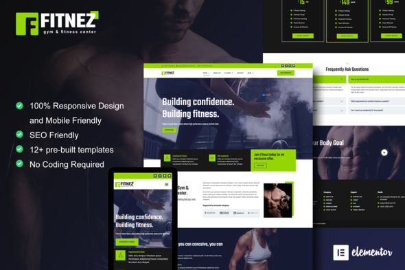 [Free Download] Fitnez – Fitness & Gym Elementor Template Kit (Nulled) [Latest Version]
