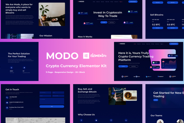 [Free Download] MODO – Crypto Currency Elementor Template Kit (Nulled) [Latest Version]