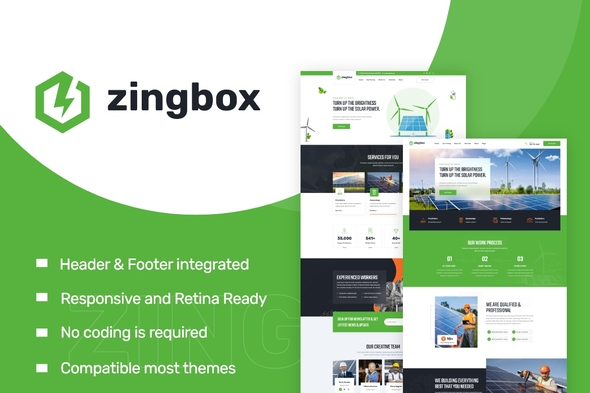 [Free Download] Zingbox – Wind & Solar Energy Elementor Template Kit (Nulled) [Latest Version]