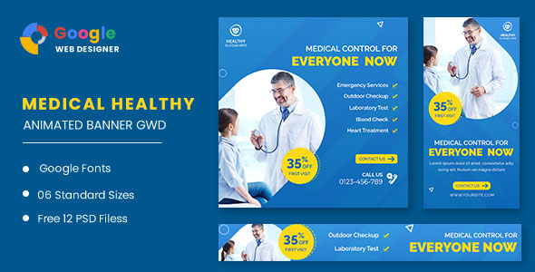 [Free Download] Medical Healthy Care Animated Banner GWD (Nulled) [Latest Version]