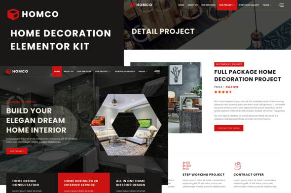 [Free Download] Homco – Home Interior Design Services Elementor Template Kit (Nulled) [Latest Version]