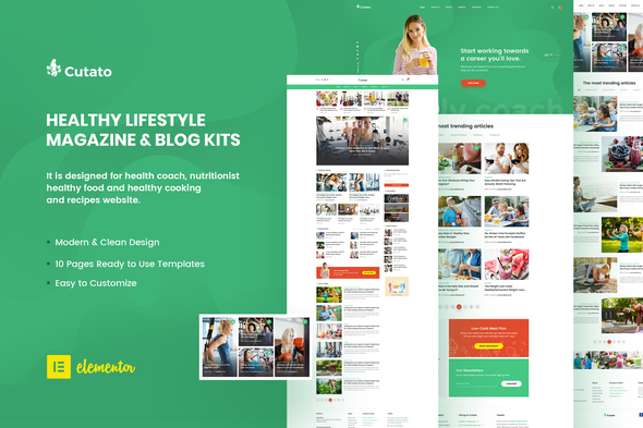 [Free Download] Cutato – Healthy Lifestyle Magazine & Blog Template Kit for Elementor (Nulled) [Latest Version]