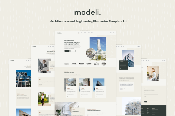 [Free Download] Modeli – Architecture & Engineering Elementor Template kit (Nulled) [Latest Version]