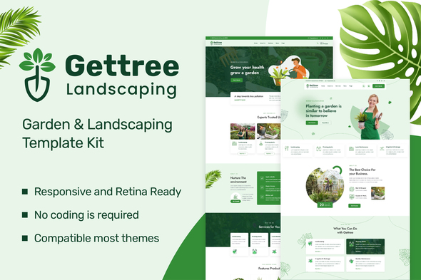 [Free Download] Gettree – Garden & Landscaping Elementor Template Kit (Nulled) [Latest Version]