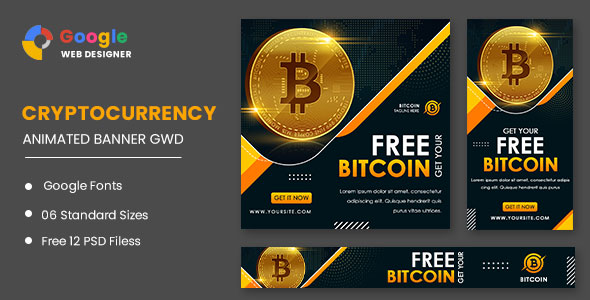 [Free Download] Cryptocurrency Bitcoin Animated Banner Google Web Designer (Nulled) [Latest Version]