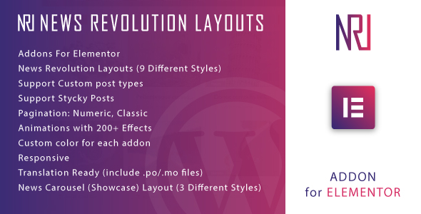 [Free Download] News Revolution Layouts for Elementor WordPress Plugin (Nulled) [Latest Version]