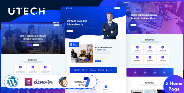 [Free Download] uTech – IT Solution And Technology WordPress Theme (Nulled) [Latest Version]