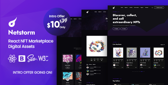 [Free Download] Netstorm – React NFT Marketplace Template (Nulled) [Latest Version]
