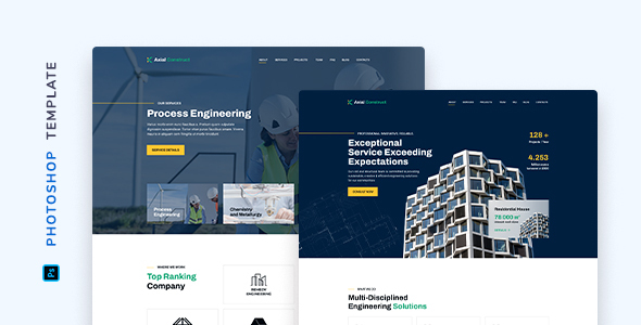 [Free Download] Axial – Construction Company Template for Photoshop (Nulled) [Latest Version]