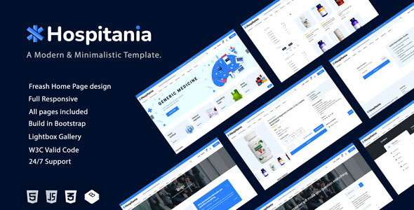 [Free Download] Hospitania – Pharmacy & Drug and Medical Store eCommerce HTML Template (Nulled) [Latest Version]