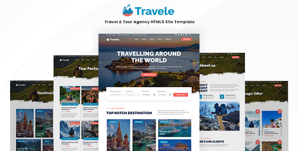 [Free Download] Travele – Travel & Tour Agency HTML5 Page Template (Nulled) [Latest Version]