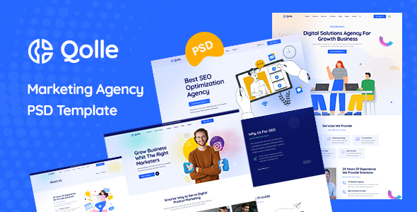 Qolle – Digital Marketing Agency PSD Template (Nulled) [Latest Version] thumbnail