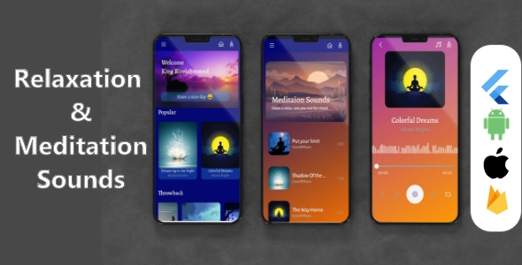 [Free Download] Flutter App Relaxation & Meditation Sounds Application (Nulled) [Latest Version]