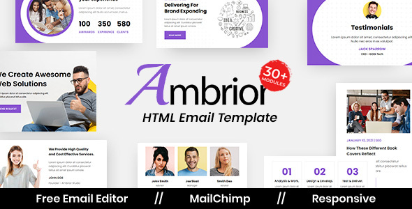 [Free Download] Ambrior Agency – Multipurpose Responsive Email Template (Nulled) [Latest Version]