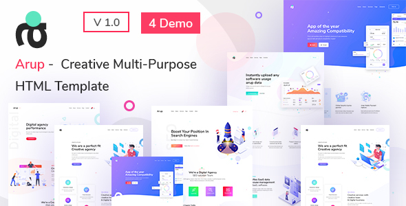 Arup – Creative Multipurpose HTML Template (Nulled) [Latest Version] thumbnail