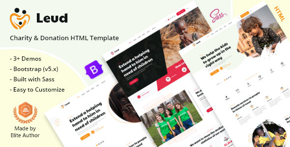 [Free Download] Leud – Charity & Donation HTML Template (Nulled) [Latest Version]