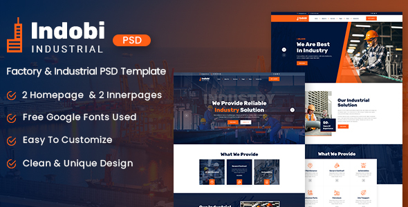 Indobi – Industrial PSD Template (Nulled) [Latest Version] thumbnail