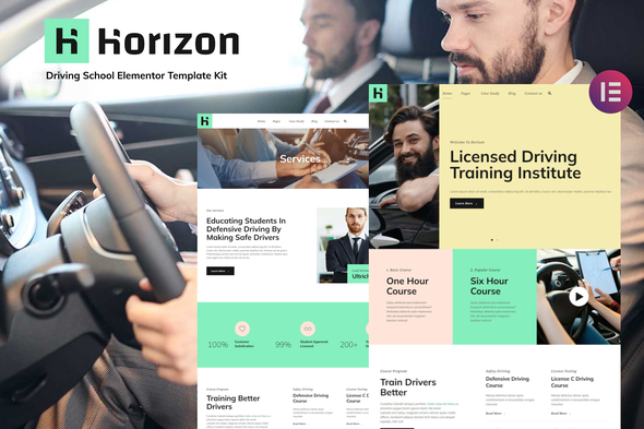 [Free Download] Horizon – Driving School Elementor Template Kit (Nulled) [Latest Version]