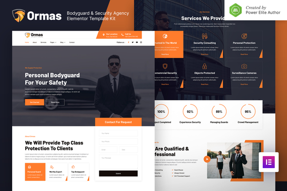[Free Download] Ormas – Bodyguard & Security Agency Elementor Template Kit (Nulled) [Latest Version]