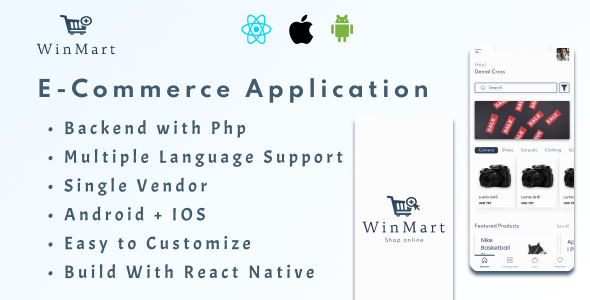 [PRE-BOOKING SALE] Winmart – E-Commerce Application(Android + IOS) + Admin Panel (Nulled) [Latest Version] thumbnail
