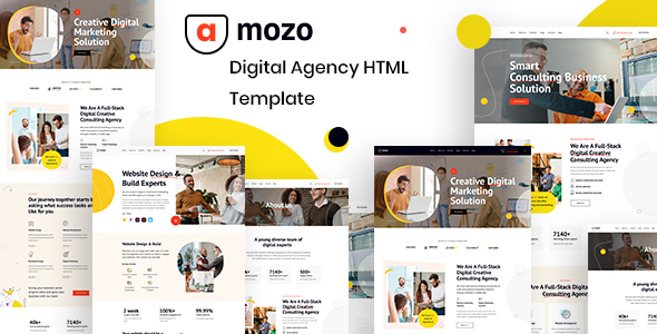 [Free Download] Amozo – Digital Agency HTML Template (Nulled) [Latest Version]