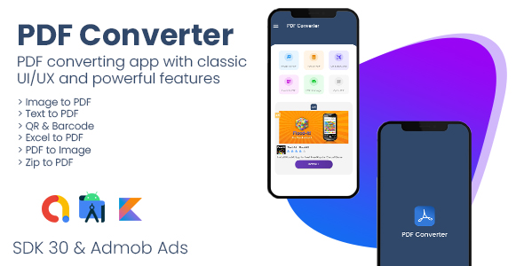 PDf Converter + QR & Barcode – Android App with – Admob Ads (Nulled) [Latest Version] thumbnail
