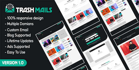 Trash Mails – Temporary Email Address System (Nulled) [Latest Version] thumbnail