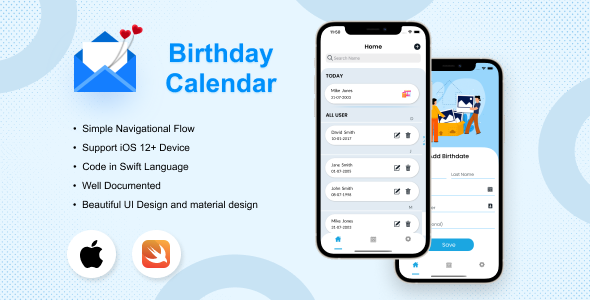 [Free Download] Birthday Calendar iOS Application (Nulled) [Latest Version]