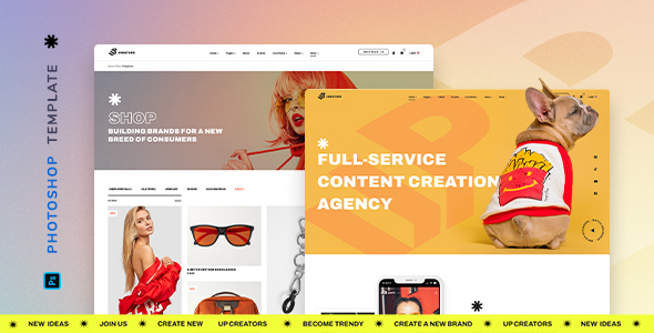 [Free Download] UpCreators – Creative Agency Template for Photoshop (Nulled) [Latest Version]