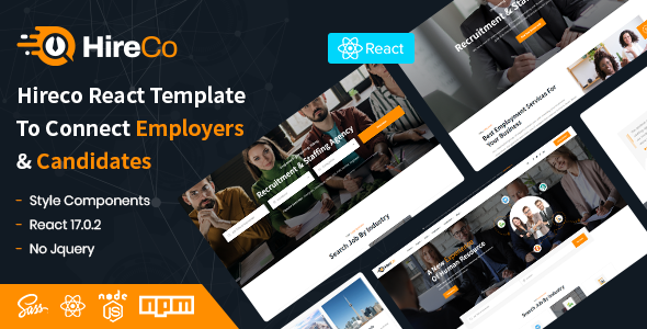 [Free Download] HireCo – Recruitment Services React Template (Nulled) [Latest Version]